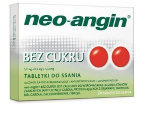 Neo-Angin bez cukru 24 tabl. do ssania