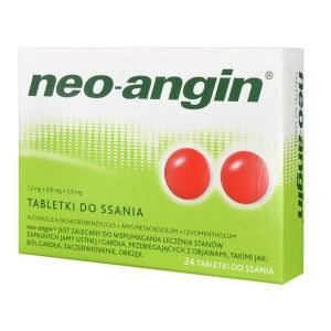 Neo-Angin z cukrem 24 tabl. do ssania